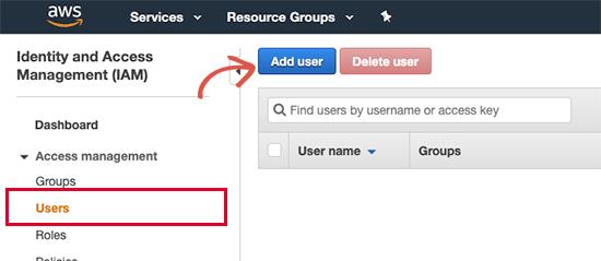 Add new user to IAM