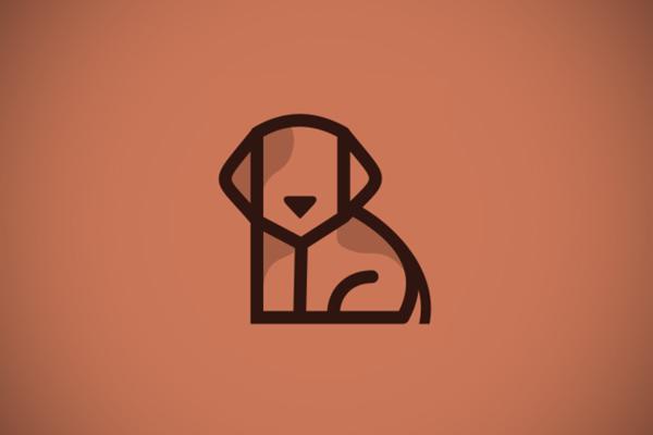 Dog Line Art Logo by Ak desain