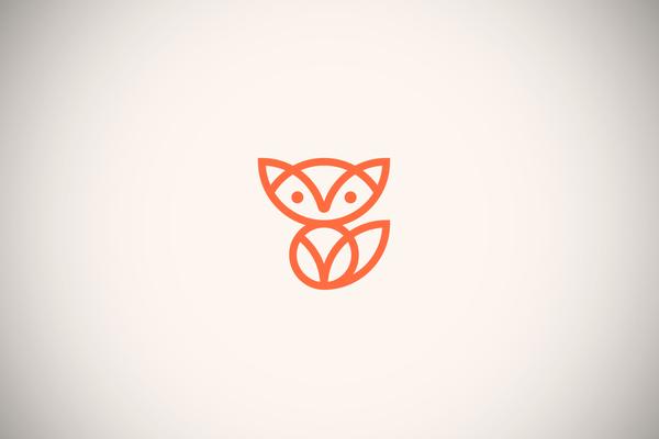 Fox Line Art Logo by Skirmantas Raila