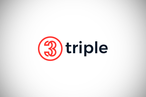 Triple - Number 3 Logo by Nick Budrewicz